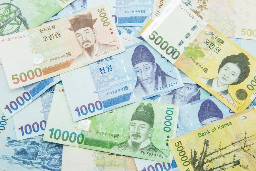 South Korean Won currency bills