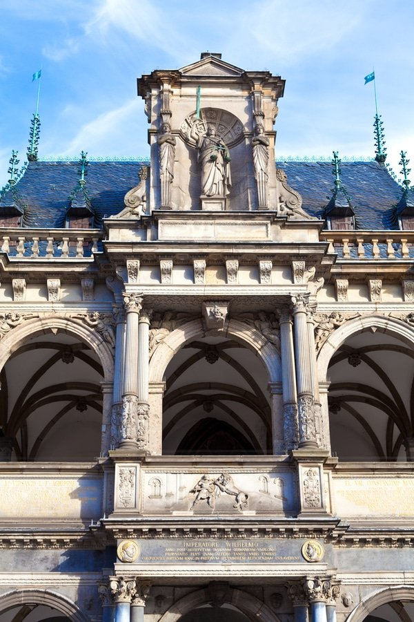 facade of Rathaus, Cologne, Germany
