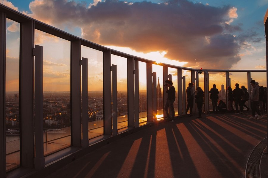 Observation deck on top of KölnTriangle, Cologne, Germany