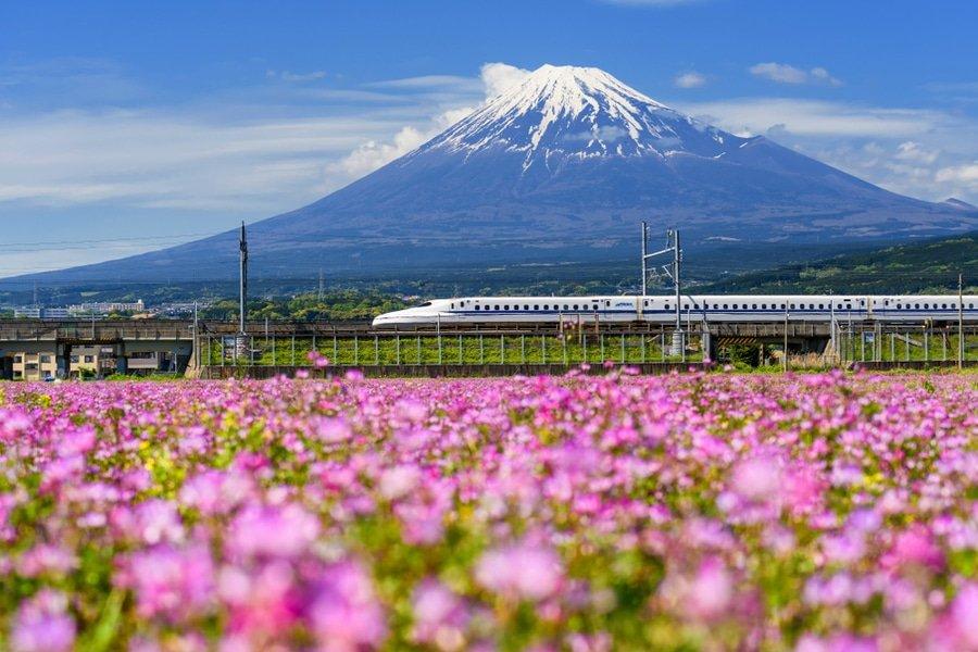Shinkansen Bullet Train, from Tokyo to Osaka, Japan