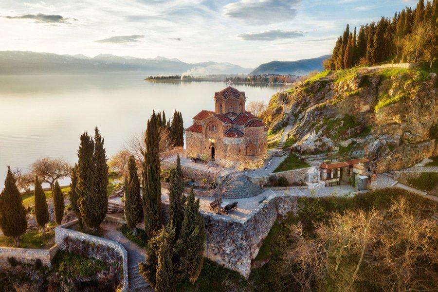 Church of St. John the Theologian in Kaneo, Ohrid, Macedonia