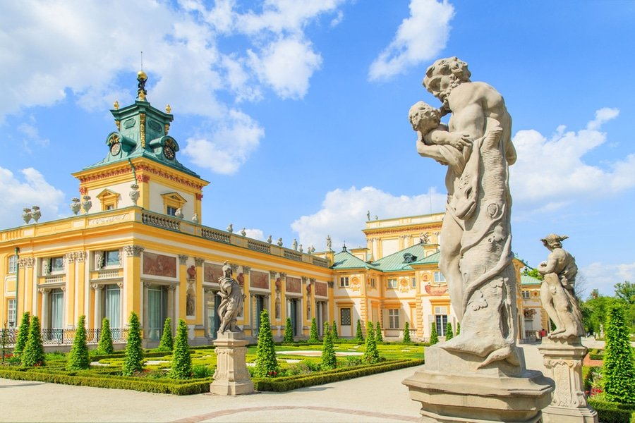 gardens of Wilanow Royal Palace, Warsaw, Poland
