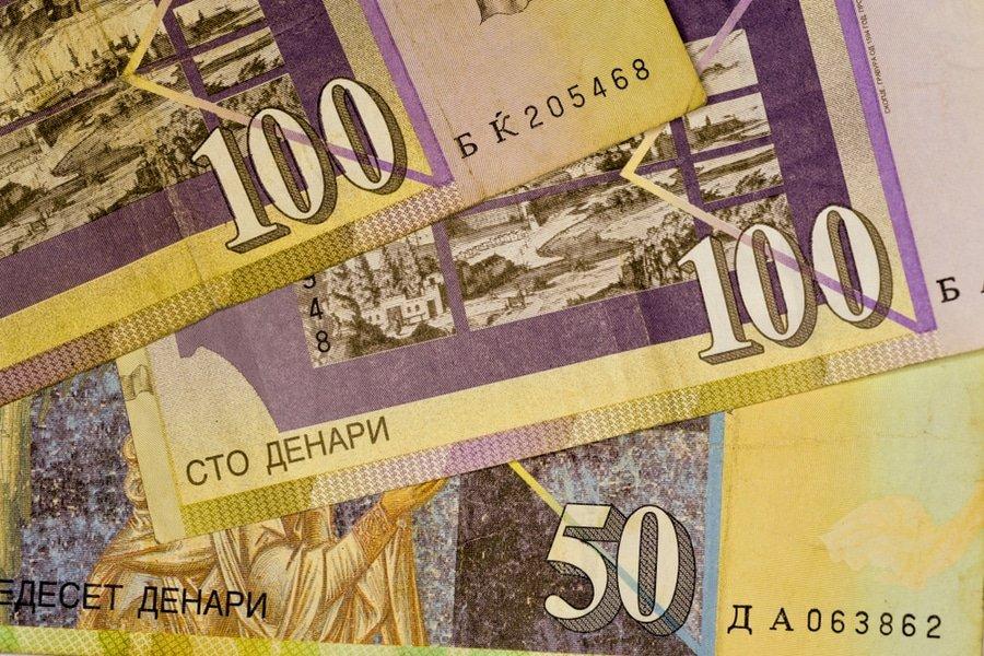 Macedonian denar currency bills