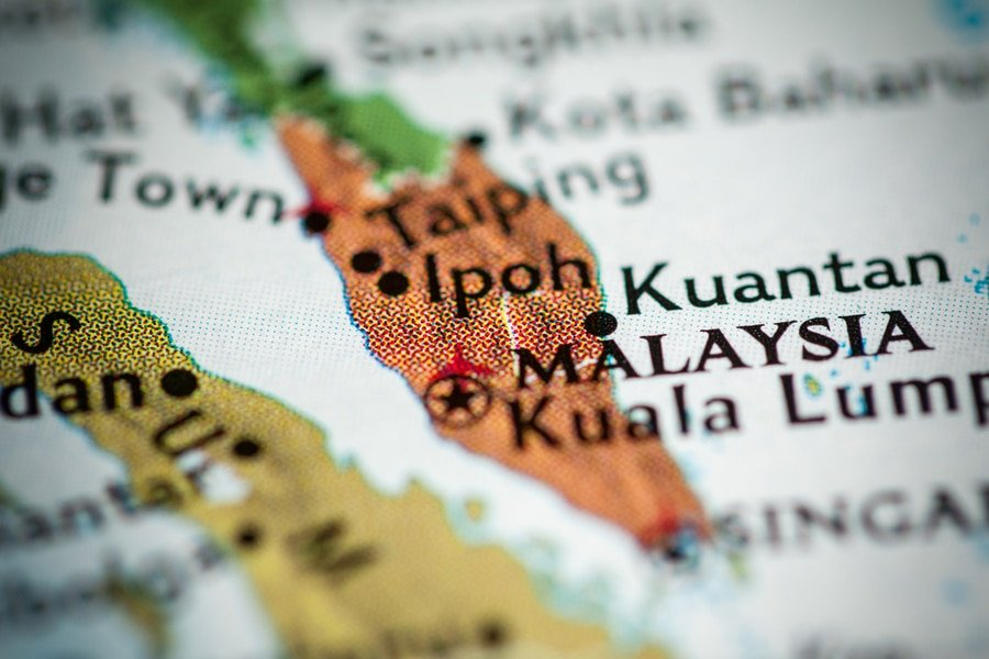 Pin on a map, Ipoh, Malaysia