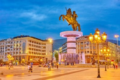 Statue of Alexander the Great, Macedonia Square, Skopje, Macedonia