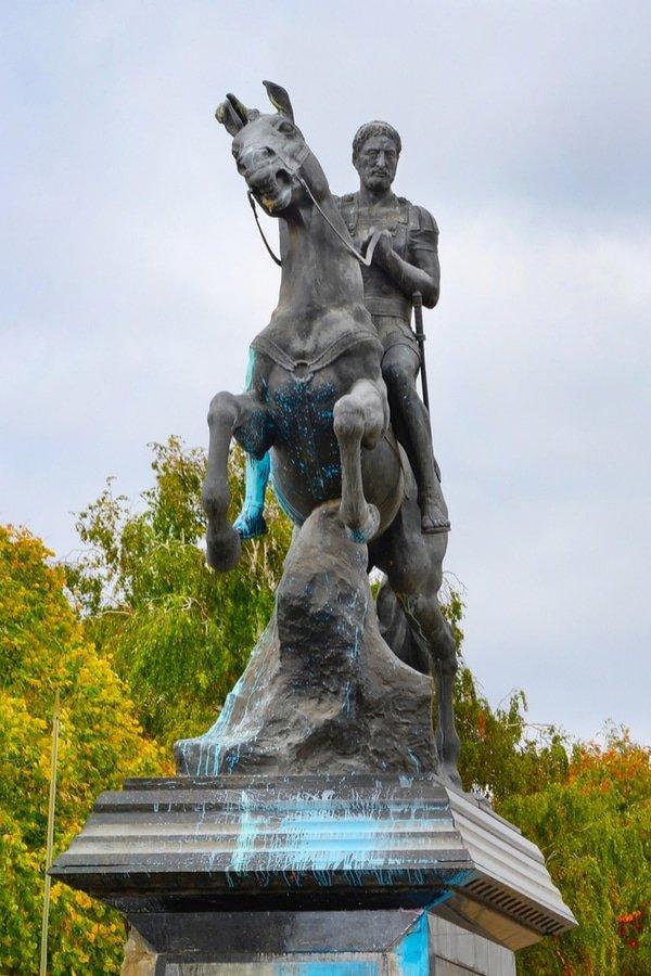 Statue of Philip of Macedonia in Bitola, Macedonia
