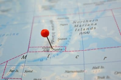 Guam on map
