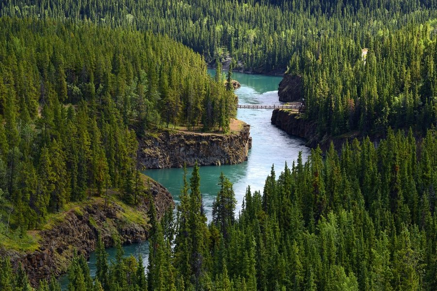 Miles Canyon near Whitehorse, Yukon, Canada