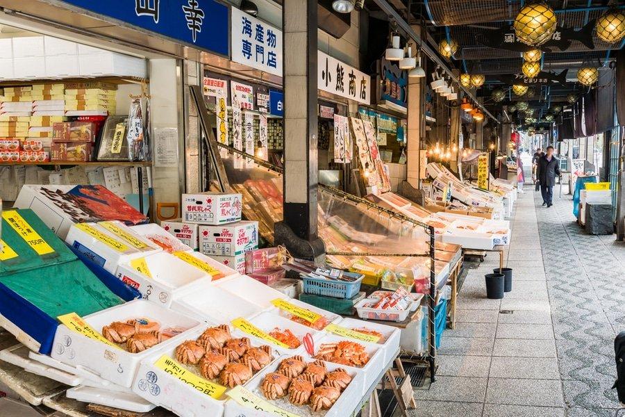 Nijo market, Sapporo, Japan