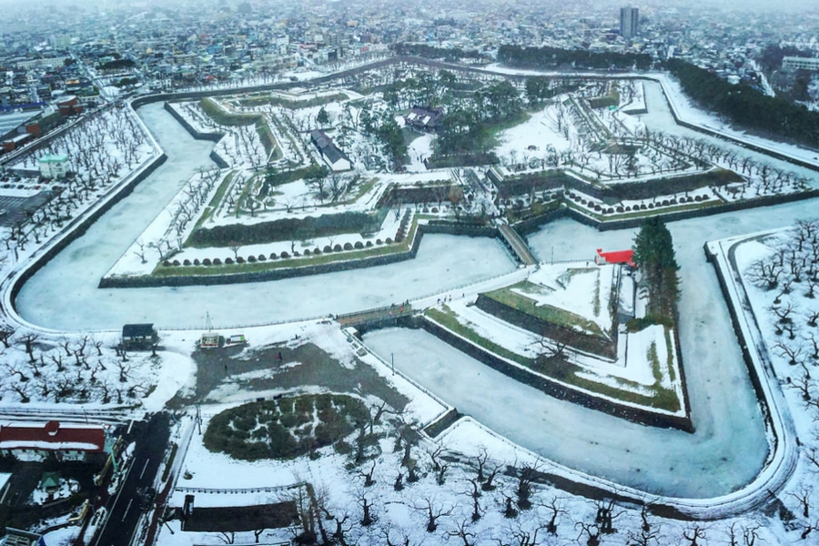 Old Fort Goryokaku, Hakodate, Japan