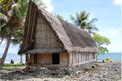 Traditional house on the island of Yap in Micronesia