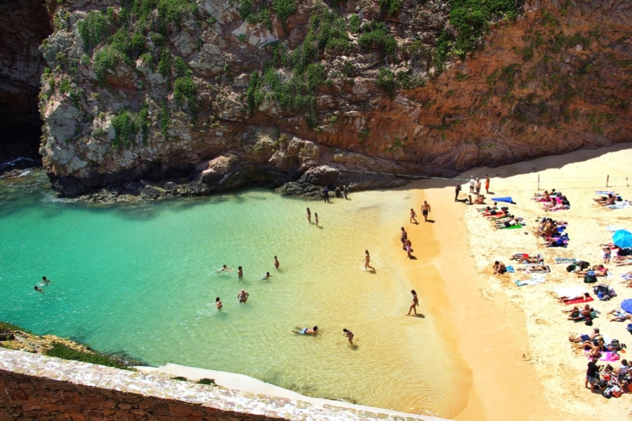 A beach on Berlenga Island, Portugal