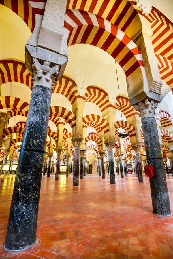 Interior of the Great Mosque Mezquita, Cordoba, Spain