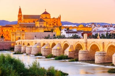 Roman Bridge and Mezquita, Cordoba, Spain