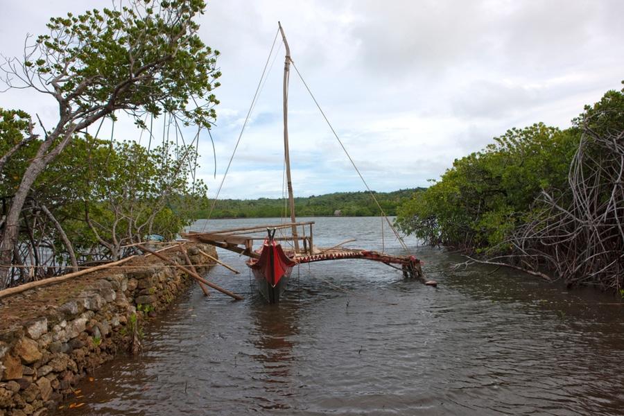 Yapese canoe, Yap Island, Micronesia