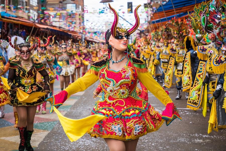 Dancers at Carnaval de Oruro, Bolivia