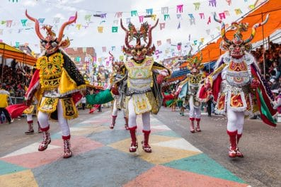 Dancers at Oruro Carnival, Bolivia