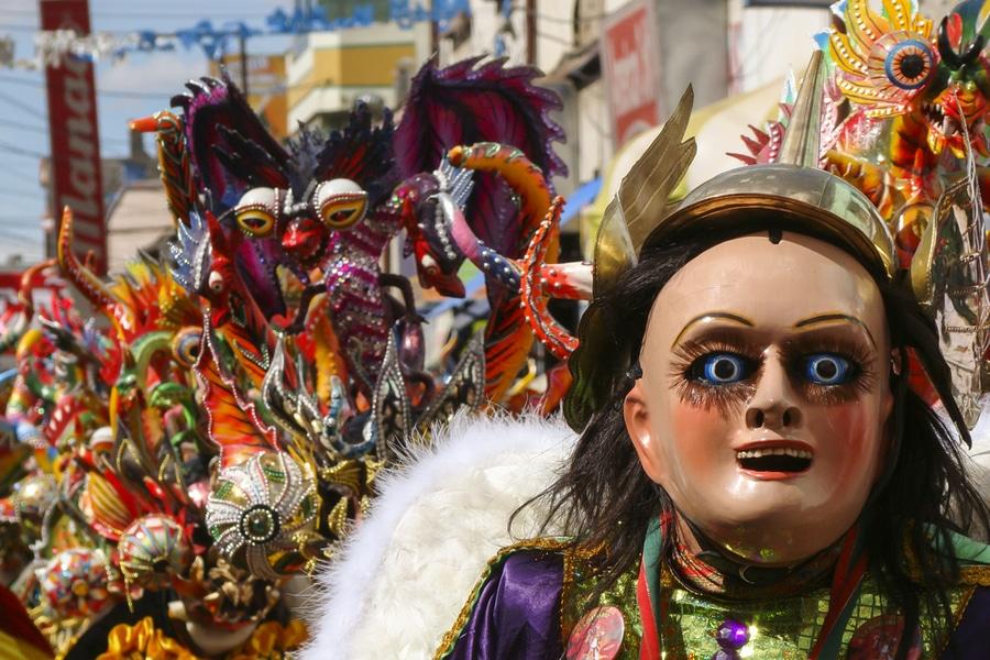 Masked dancer, Oruro Carnival, Bolivia