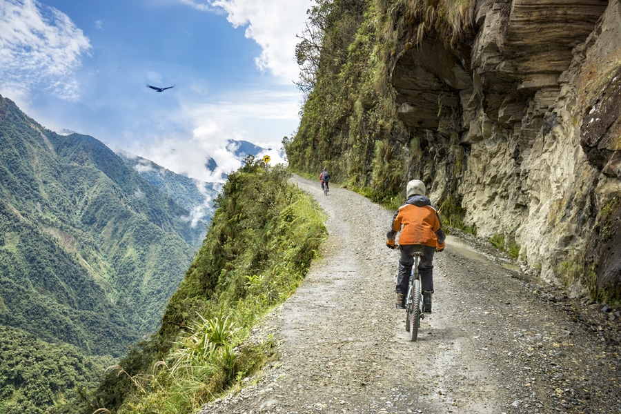 Yungas road, Bolivia