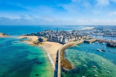 Aerial view of Saint-Malo, France
