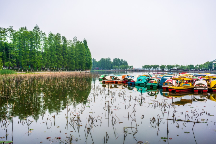 Donghu east lake in Wuhan , China