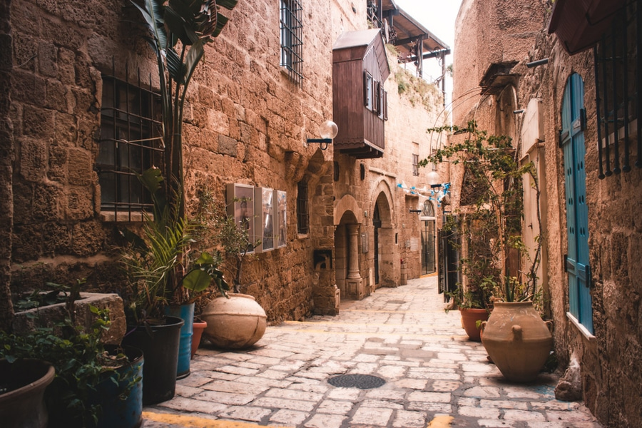 The Jaffa neighborhood in Tel Aviv
